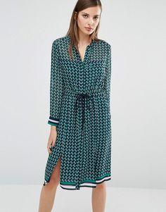 Whistles   Whistles Shirt Dress in Foulard Print