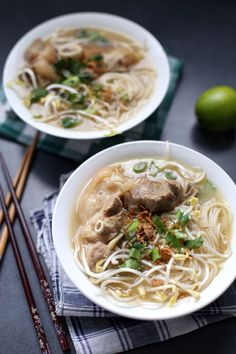 Bánh Canh Giò Heo. I love yummy looking Asian style soups with noodles and broth.