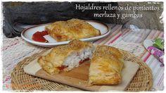 Te invito a mi cocina: Hojaldres rellenos de pimientos, merluza y gambas http://sarividarural.blogspot.com.es/2017/01/hojaldres-rellenos-de-pimientos-merluza.html