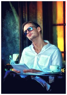 Alex Skarsgard . . . my god he's beautiful in this picture.