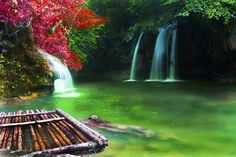 Double Waterfall, Pinoy, The Philippines | Aeroplanes - Photos