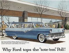 1956 FORD PARKLANE This was our car, all a dark blue. Had it shipped to Germany when we got stationed there. Caused a sensation