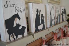DIY Nativity Stocking Holders -$9 to buy at http://www.u-createcrafts.com/2014/08/Christmas-nativity-vinyl-sale.html