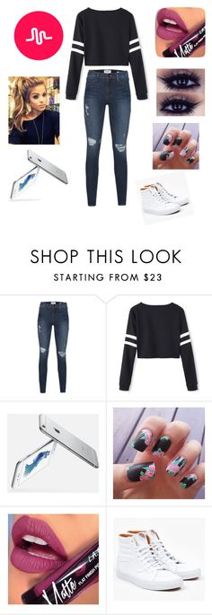 """Making a Musical.ly"" by analinagalaviz ❤ liked on Polyvore featuring Frame Denim, Fiebiger and Vans"
