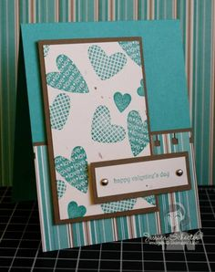 I {Heart} Hearts Masculine Valentine by Jessicafawn - at Splitcoaststampers