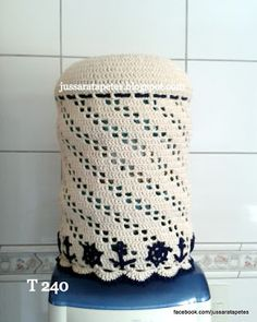 Jussara tapetes: Capa para galão de água de 20 litros - T 240