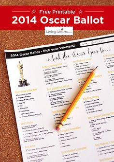 Download these printable ballots and make it even more fun!