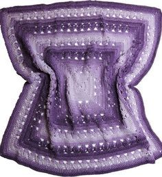 Free Crochet Pattern featuring Red Heart Ombre Yarn - Purple - Lunar Crossings Square Blanket designed by Kim Guzman
