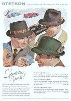 2f20bf889de5f Stetson Spectator Railbird Hat 1956 Ad Clothing Accessories