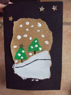 Lovely, inexpensive artwork to make a simple winter scene. Unlike crafts where the end product is predetermined, this allows for creativity and the student has freedom to paint a scene of their choosing and/or based on their own observations of winter.