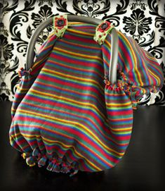 Amazing No Sew Fleece Baby Car Seat Cover or Tent How to / Tutorial/ DIY I think you could also do this with knit t-shirt type material if you want one that is more breathable.