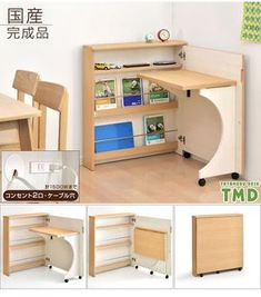 Gambaru Kaguya Tansu no Gen: Product made in child boy Japan outlet shelf of the desk compact folding bookshelf Shin pull PC desk folding desk desk learning learning desk desk desk child woman with domestic finished product shelf, outlet Folding Furniture, Smart Furniture, Space Saving Furniture, Home Furniture, Furniture Design, Space Saving Desk, Multifunctional Furniture, Furniture Ideas, Pallet Furniture