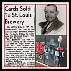 On This Day In Cardinal Nation : February 20, 1953: Gussie Buys The Birds