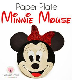 Fun & easy paper plate Minnie Mouse craft for kids!