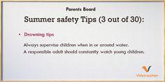 Summer safety tips (tip 3)