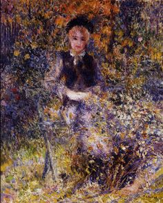 Young Woman on a Bench Pierre Auguste Renoir - 1875