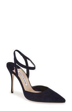 Manolo Blahnik 'Minis' Ankle Strap Pump (Women) available at #Nordstrom