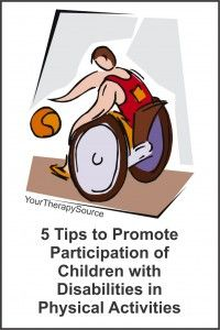 5 Tips to Promote Participation of Children with Disabilities in Physical Activities