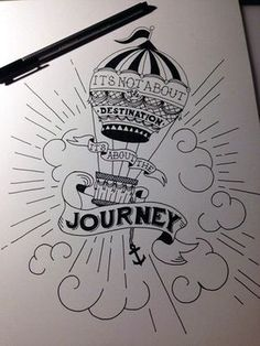 45 creative doodle art tutorials and examples how to make doodle, hand lettering, cool Doodle Drawings, Easy Drawings, Meaningful Drawings, Art Tutorials, Balloons, Typography, Journey, Tattoos, Tattoo Quotes