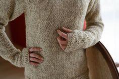 Creamy beige sweatersheep wool sweaterthumb by Isabellwoolstudio