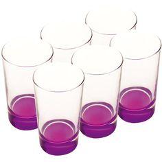 Maxwell+williams Arcobaleno Glass Hiball Set/6 460 Ml Purple | Kitchen Stuff Plus