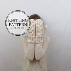 Knitting Pattern Chunky Cable Knit Mittens THE CARDIFFS