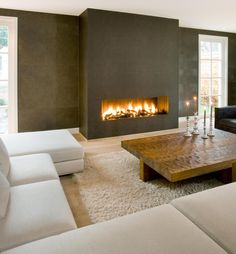 Cozy Corner Fireplace Design Ideas in the Living Room Home Fireplace, Modern Fireplace, Living Room With Fireplace, Fireplace Design, Home Living Room, Living Room Designs, Living Room Decor, Fireplaces, Fireplace Ideas