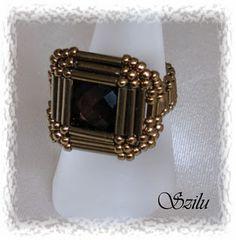 Szilu: Osiris & more (Ozirisz) Seed Bead Jewelry, Bead Jewellery, Jewelry Making Beads, Wire Jewelry, Jewelry Crafts, Jewelry Rings, Jewelery, Handmade Jewelry, Wire Earrings