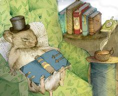 Vacaciones: descanso y lectura (ilustración de Jessica Johnson )