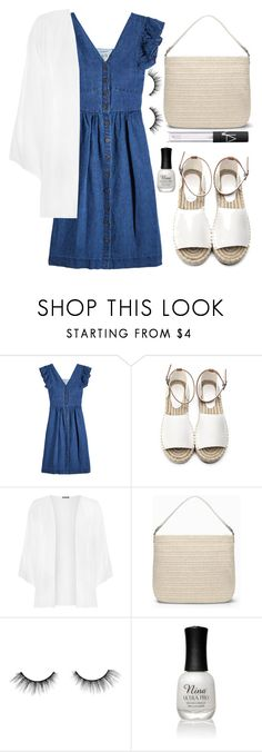 """""""SEA Button Front Cotton Dress"""" by wolfiexo ❤ liked on Polyvore featuring Sea, New York, WearAll, Stella & Dot, tarte, Charlotte Russe and NARS Cosmetics"""