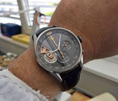 """TAG Heuer Autavia Watch For 2017 Preview At Heuer Collectors Summit - by Santiago Tejedor - See the newest pieces from TAG Heuer now at: aBlogtoWatch.com - """"The two-day Heuer Collectors Summit was held this past Monday, September 12th, 2016, at TAG Heuer's headquarters in La Chaux de Fonds, Switzerland. It was the second edition of a similar summit held in 2013, with the idea to invite a handful of collectors to exchange ideas, experiences, and above all, share their pre-1985 beauties..."""""""
