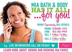 I know a few of you are interested and now is the time to find out more! #miabathandbodymelissaendres www.melissaendres.miabathandbody.com #extramoneyforchristmas