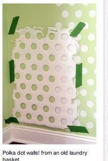polka dot or stripe walls