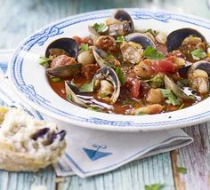 The spicy kick of chorizo works brilliantly with seafood in this Spanish dish from James Martin