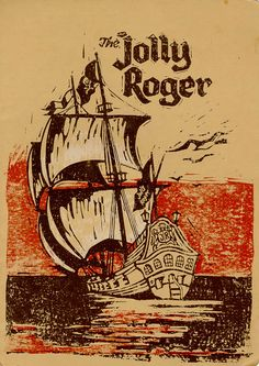 A menu from the Jolly Roger Restaurant at Fashion Square in Sherman Oaks (ca. 1963).