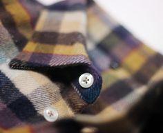 flannel shirt collar macro