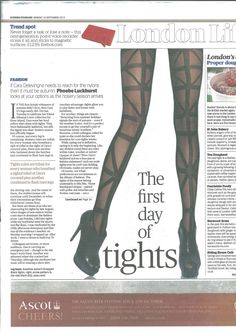 Jonathan Aston Strapped Tights in the Evening Standard - shop now >> http://ow.ly/oZrtu