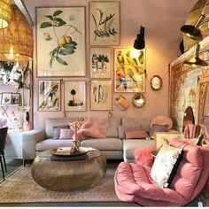 New Ideas Into House Design Interior Living Room Decorating Ideas Never Befo… - Best Home Deco Boho Living Room, Living Room Interior, Home Interior Design, Home And Living, Bright Living Room Decor, Warm Colours Living Room, Small Living, Colorful Living Rooms, Living Room Artwork