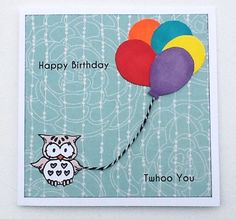 Birthday card handmade owl birthday card by WideSkyPapercrafts, £3.50 #teamdream
