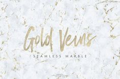 Seamless Marble Textures Gold Veins by The Paper Town on @creativemarket