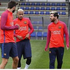 Treino de hoje com a volta de Messi ❤⚽❤ #neymar #neymarjr #barcelona