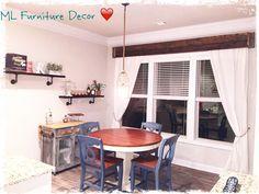 Window cornice and Kitchen decor by ML Furniture Decor.