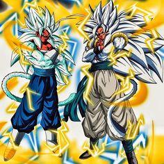 Manga Anime, Anime Art, Dbz, Dragon Ball Z, Gogeta E Vegito, I Am Awesome, Creatures, Artwork, Geek