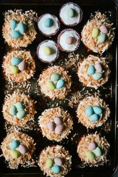 Cute and Delicious Easter Egg Bird's Nest Cupcakes Recipe