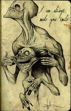creepy smile drawing - Google Search