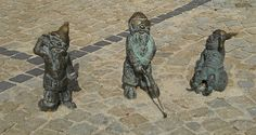 Figurines Dwarfs in Wroclaw, Poland