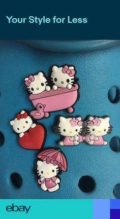 5eada7134d64f 4 Hello Kitty Shoe Charms For Crocs   Jibbitz Wristbands