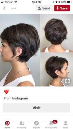 Haircuts - New Site Messy Bob Hairstyles, Short Hairstyles For Thick Hair, Short Sassy Hair, Short Hair Cuts, Medium Hair Styles, Short Hair Styles, Hair Today Gone Tomorrow, Peinados Pin Up, Shoulder Hair