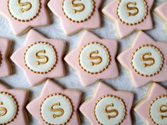 Elegant Pastel Pink White and Gold Star shaped by thesweetesttiers