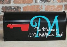 Custom Two Color Personalized Mailbox Address Vinyl Decals. $11.00, via Etsy.